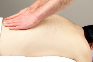 Effleurage 'to-skim' massage technique